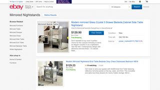 eBay Mirrored Nightstand