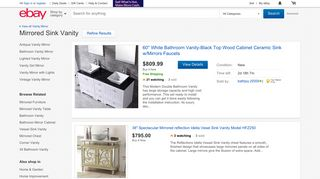 eBay Mirrored Vanities