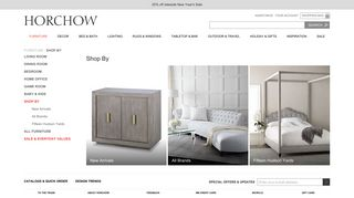 Horchow Mirrored Chest of Drawers