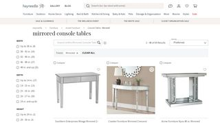 Hayneedle Mirrored Console Table