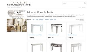 Mirrored Console Tables