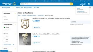 Walmart Mirrored Coffee Tables
