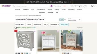 Wayfair Mirrored Chest Of Drawers