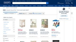 Sears Mirrored Side Tables