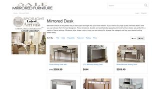 Mirrored Desk Sale