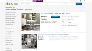 eBay Mirrored End Tables