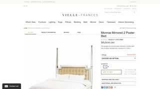 Monroe Mirrored Bed
