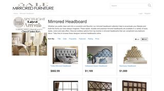 Mirrored Headboard Sale