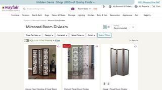 Wayfair Mirrored Dividers