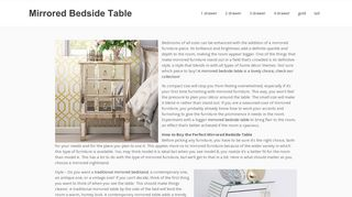A Mirrored Life Nightstands