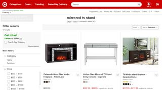 Target Mirrored TV Stands