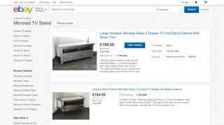 eBay Mirrored TV Stands