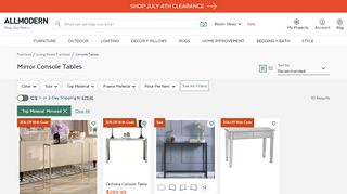 All Modern Console Tables