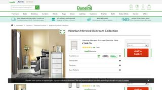 Dunelm Mirrored Bedroom