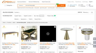 Wholesale Mirrored Dining Tables