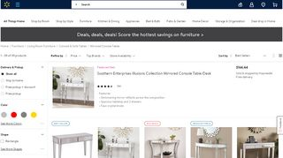 Walmart Mirrored Console Tables