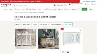 Wayfair Mirrored Sideboard