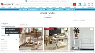 Overstock Mirrored Furniture