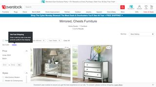 Overstock Mirrored Chests