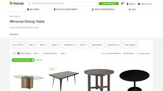 Houzz Mirrored Dining Tables