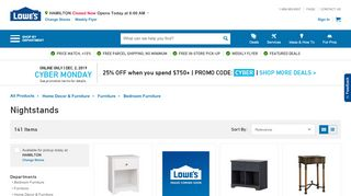 Lowe's Mirrored Nightstands