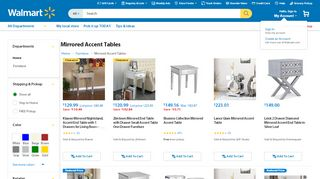 Walmart Mirrored Accent Tables