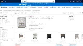 Walmart Mirrored Nightstand