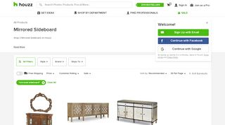 Houzz Mirrored Sideboard