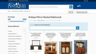Antique Mirrored Sideboards