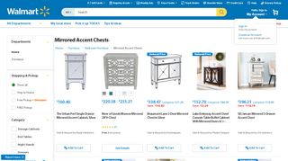 Walmart Mirrored Accent Chests