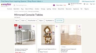Wayfair Mirrored Console Tables
