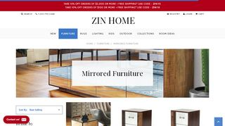 Zin Home Mirrored Consoles