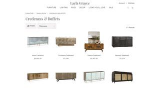 Layla Grayce Mirrored Buffets