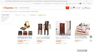 AliExpress Mirrored Chests