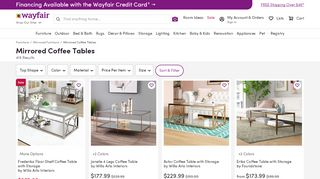Wayfair Mirrored Coffee Tables
